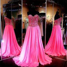 Crystal Prom Dress 2017 Sweetheart Sleeveless Sweep Train