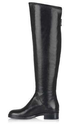 Women Black Leather Boots Bathanny | La Canadienne