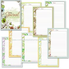 Free Printables     Confessions of a Homeschooler is offering these lovely free journaling pages printables!