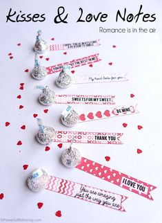 Kisses & Love Notes Free printable template
