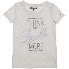Girls Light Grey 'Lesley' T-Shirt, Tommy Hilfiger, Girl