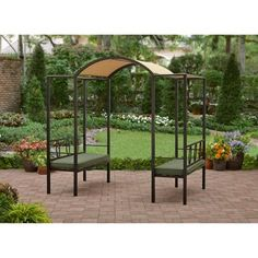 better homes and gardens ravenswood arbor with seating