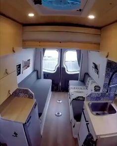 Camper Interior Design, Campervan Interior, Volkswagen Bus Interior, Motorhome Interior, Van Conversion Interior, Camper Van Conversion Diy, Van Conversion With Bathroom, Motorhome Conversions, Sprinter Van Conversion