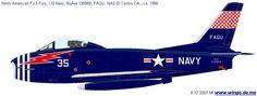 North American FJ-3 Fury  NAS El Centro CA 1958