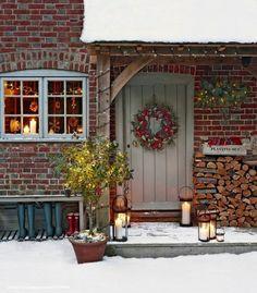 Christmas Garden, Country Christmas, Christmas Home, Cottage Christmas, Merry Christmas, White Christmas, Hygge Christmas, Christmas Baking, Christmas Christmas
