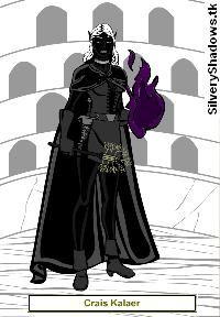 Cràis, portrait.  Personaje de la novela de fantasía épica Ojos de Jade, de F. J. Sanz.  http://www.fjsanz.com