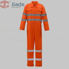 Jiade Adult High Visibility Coverall Long Sleeve CoverallMen's Work Reflective Coverall