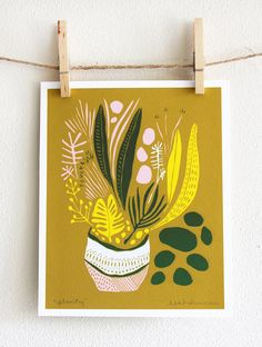 Planty Print van leahduncan op Etsy