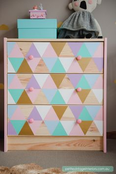 geometric drawer decals idea...
