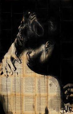 "Saatchi Art Artist Loui Jover; Drawing, ""nightfall"" #art"