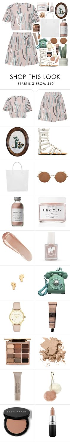 """B I R T H D A Y / /"" by queen-laureen ❤ liked on Polyvore featuring MSGM, Creatures of Comfort, Sunday Somewhere, French Girl, Herbivore, NARS Cosmetics, FOSSIL, Gorjana, Kate Spade and Aesop"