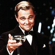 Reaction GIF: toasting, Leonardo DiCaprio, The Great Gatsby Felicidades Gif, Dank Gifs, Movie Gifs, Funny Photoshop, Happy Birthday Meme, The Great Gatsby, Birthday Images, Images Gif, Animated Gif