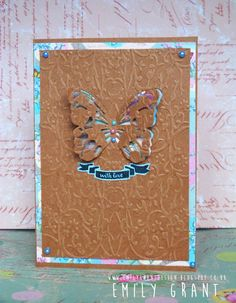 Breathtaking card design by Emily who has used the Dovecraft Couture du Jour collection