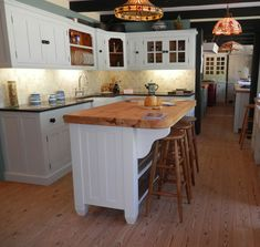 Our hand made Downi kitchen island in the New Forest showroom. http://www.john-willies.com/kitchens/freestanding_islandunits.php