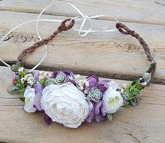 Check out this item in my Etsy shop https://www.etsy.com/listing/557206637/flower-hair-wreath-wedding-wreath-bridal