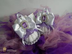 Exclusive booties for newborn girl.Purple by Exclusive72 on Etsy ♡