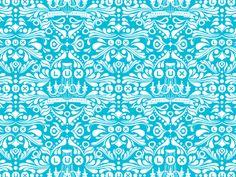 Boutique blue pattern
