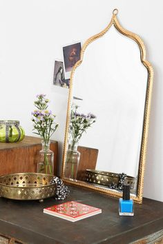 via Urban Outfitters: Taj Wall Mirror My New Room, My Room, Mirrors Urban Outfitters, Deco Boheme, Boho Stil, Bohemian, Dream Bedroom, Interiores Design, Decoration