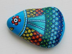 Hand Painted Pebble Fish