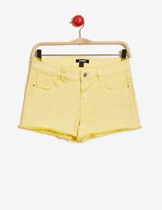 Short à bords francs jaune clair femme • Jennyfer
