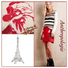 Honorine mini skirt ✨A gorgeous cherry color silhouette with front zip.✨The material is silky, substantive!✨The pattern and print on the skirt is so unique it's a blurry kind of vision of a beautiful painting!✨ Anthropologie Skirts Mini