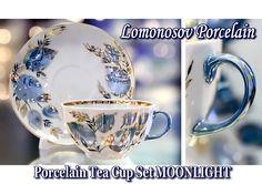 Lomonosov Imperial Porcelain Tea Cup Set MOONLIGHT