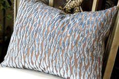 Decorative Pillow  Rain Blue and Brown Cut by HomemakerMovement, $59.00