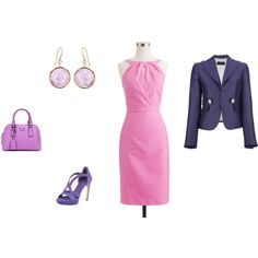 """""""Clear Summer - pink/purple/violet"""" by adriana-cizikova on Polyvore"""