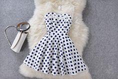 Polka Dot Slim Organza Dress