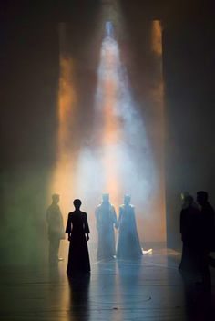 Something quite interesting...Side Light in Theatre, by lighting designer Japhy Weideman for Shakespeare's Macbeth at Lincoln Center Theatre's, Vivian Beaumont Theatre.