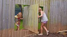 This is no ordinary fence - it's a pivot fence. Create a secret entry from your pad to the garden next door – the kids will love it!