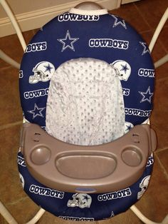 Dallas Cowboys Baby Swing Cover by KimsWhimsy on Etsy, $40.00