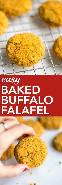 Easy Baked Buffalo Falafel: This 20-minute meal is gluten free, vegetarian, and vegan, and it's perfect for any Meatless Monday meal! || fooduzzi.com recipes