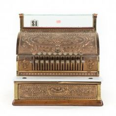 National Brass Wood Cash Register