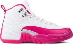 07935e6e5bb 2016 Girls Air Jordan 12 Valentine Day White Pink New For Sale
