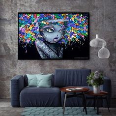 XX3181 Modern Creative Abstract Girl Graffiti Canvas Painting For Kids Room Wall Art Posters And Prints Wall Pictures Decor Graffiti Girl, Street Art Graffiti, Arte Pop, Tableau Pop Art, Canvas Wall Art, Canvas Prints, Graffiti Canvas Art, Kids Room Wall Art, Art Graphique