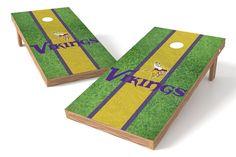 Minnesota Vikings Cornhole Board Set - Field (w/Bluetooth Speakers)