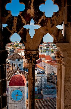 Clocktower, Trogir, Croatia. Found this place by accident an amazing day!