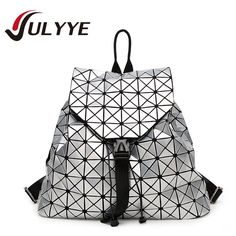 28.75$  Watch more here - http://ai47p.worlditems.win/all/product.php?id=32688230937 - 2016 New Fashion Geometric BAOBAO Backpack Women Large Capacity  Patchwork Diamond Lattice Backpack Famous Brand Drawstring Bag