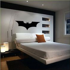 Large Dark Knight Batman Logo Wall Decor/Sticker FREE SHIPPING VI00011