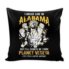 """Super Saiyan Alabama Pillow Cover 16"""" - TL00088PL"""