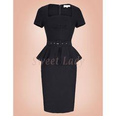 Elegantné úzke retro šaty Peplum Dress, Spandex, Retro, Vintage, Dresses, Fashion, Gowns, Moda, La Mode