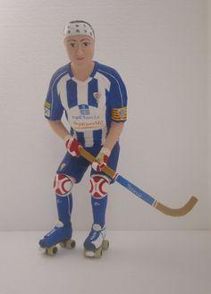 jugadora de  hokey. anna bartoll. http://figurespapermaixe.blogspot.com.es