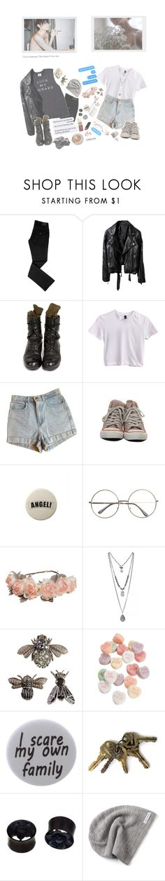 """""""my baby don't want me cus of my dirty laundry"""" by gtfoavacado ❤ liked on Polyvore featuring Pentax, American Apparel, KEEP ME, GET LOST, Cult Gaia, Dsquared2, Humör, NOVICA and Converse"""