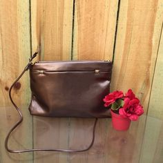 Bronze Copper Color Crossbody Purse Used maybe once if not at all.  In fantastic condition Bags Crossbody Bags