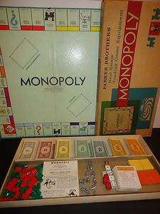 VTG 1960s 1961 Retro Parker Bros Brothers MONOPOLY Board Game - played this for hours especially on snow days !