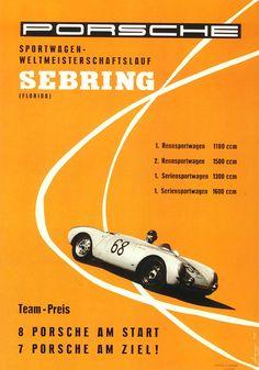 Porsche Poster von 1955