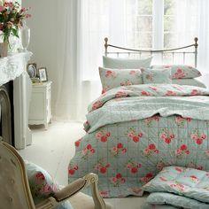 Cath Kidston Antique Rose Bouquet Duvet Cover, Blue
