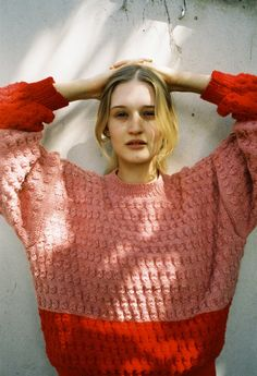 HARRY WERE red sweater #pixiemarket #fashion @pixiemarket