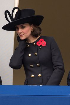 Catherine, Duchess of Cambridge during the annual Remembrance Sunday memorial on November 12, 2017 in London, England.